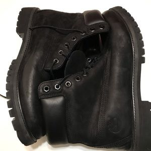 Men's Timberland Black Boots size 10.5